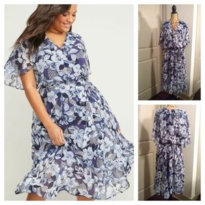 Fit & Flare Floral Lane Bryant dress